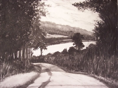 Road from Le Sap